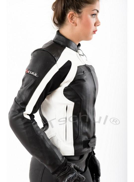 Женская кожаная мото-куртка 840
