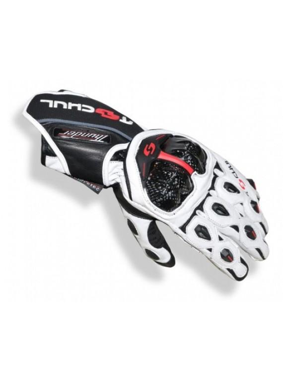 Мото-перчатки Tschul 250 черно-белые