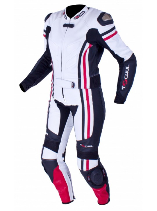 Мото-комбинезон Tschul 556 бело-черно-красный
