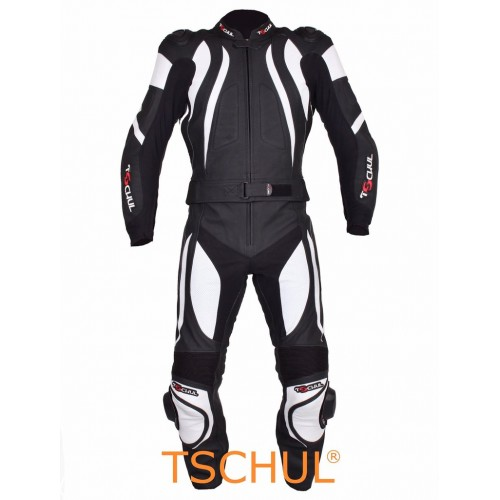 Мото-комбинезон Tschul 545 черно-белый