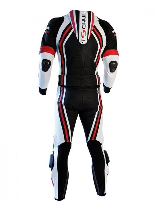 Мото-комбинезон Tschul 555 черно-сине-красный